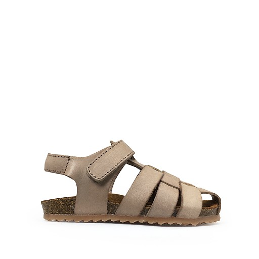 Kids shoe online Two Con Me by Pepe sandal Braided sand-coloured sandal