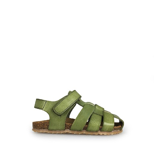 Kids shoe online Two Con Me by Pepe sandal Braided khaki sandal