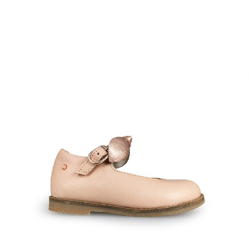 Kids shoe online Manuela de juan mary jane Nude PInk Mary Jane with bow