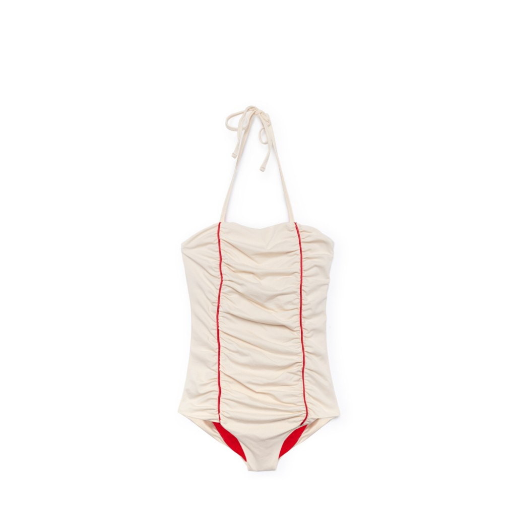 Little Creative Factory - Kyoto swimsuit in white and red