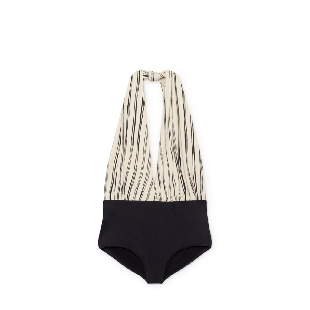 Little Creative Factory - Bamboo Wrap swimsuit in black and white