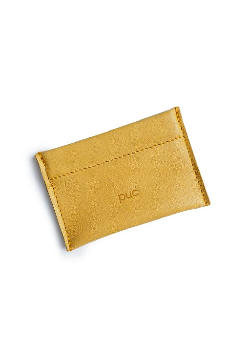 Puc wallet Ocher yellow coin clic wallet Barber