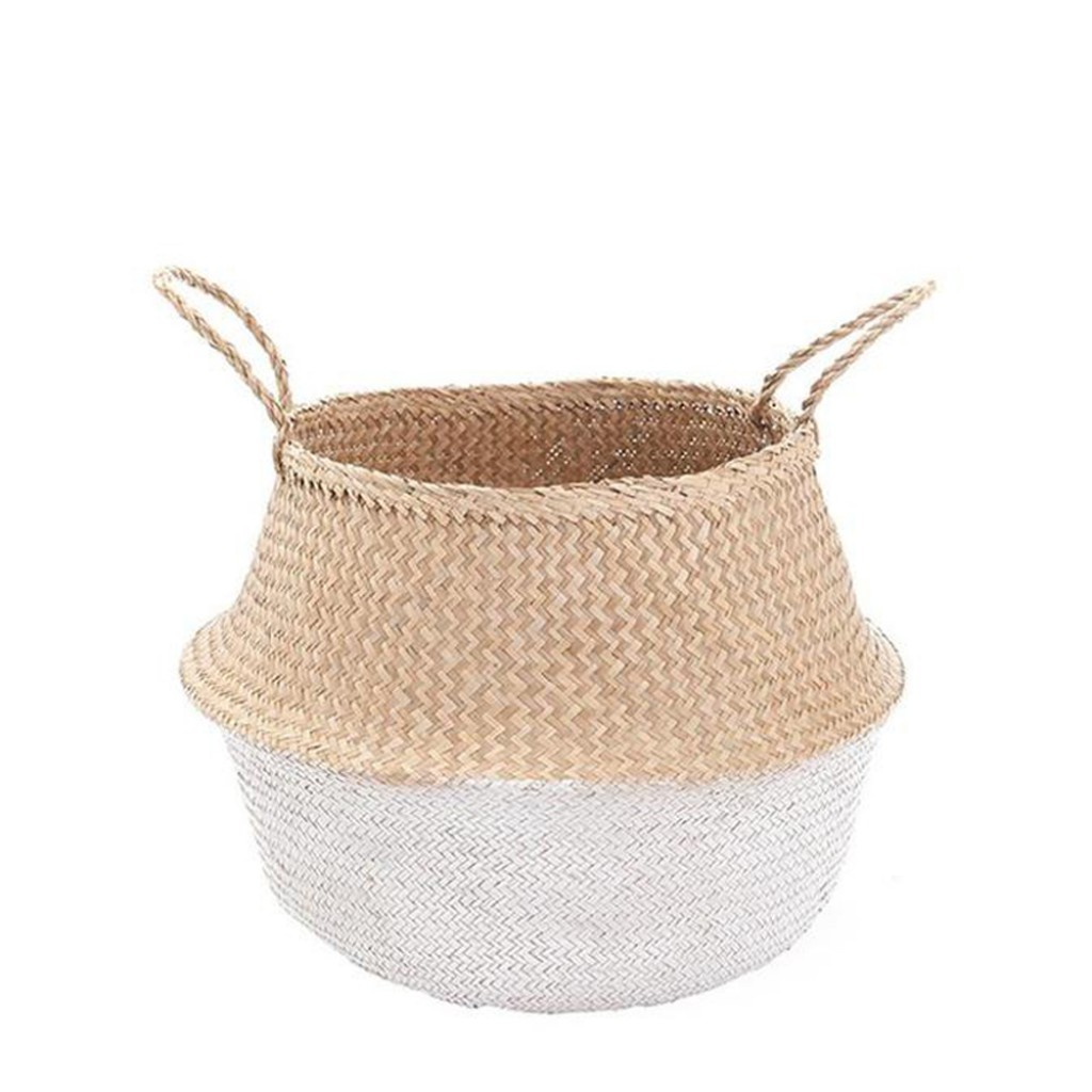 Olli Ella - White dipped belly basket - Medium