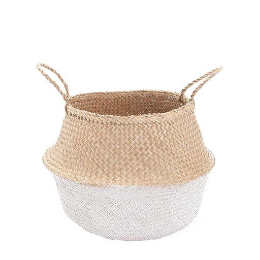 Olli Ella deco White dipped belly basket - Medium