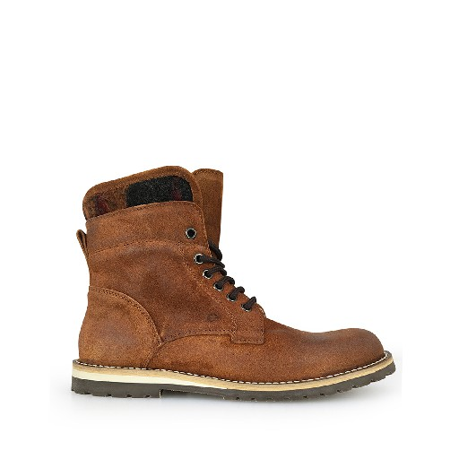 Kids shoe online Gallucci boot Brown lace boots