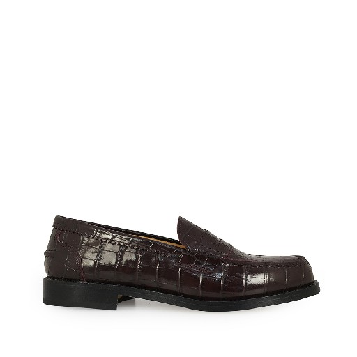 Kids shoe online Gallucci loafer Loafer in burgundy croco