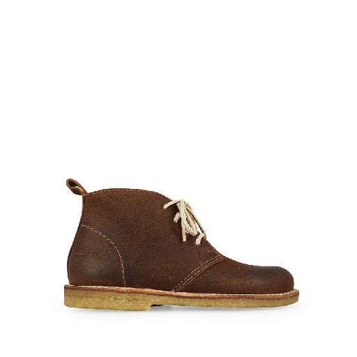 Kids shoe online Angulus boot Desert boot in brown brushed leather