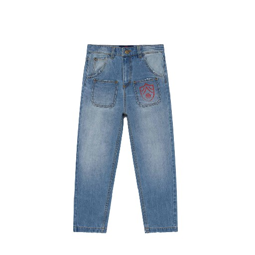 Kids shoe online The Animals Observatory jeans Washed denim jeans