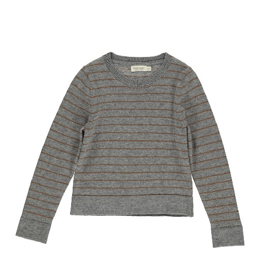 Kids shoe online MarMar Copenhagen jersey Grey jumper with brown stripes