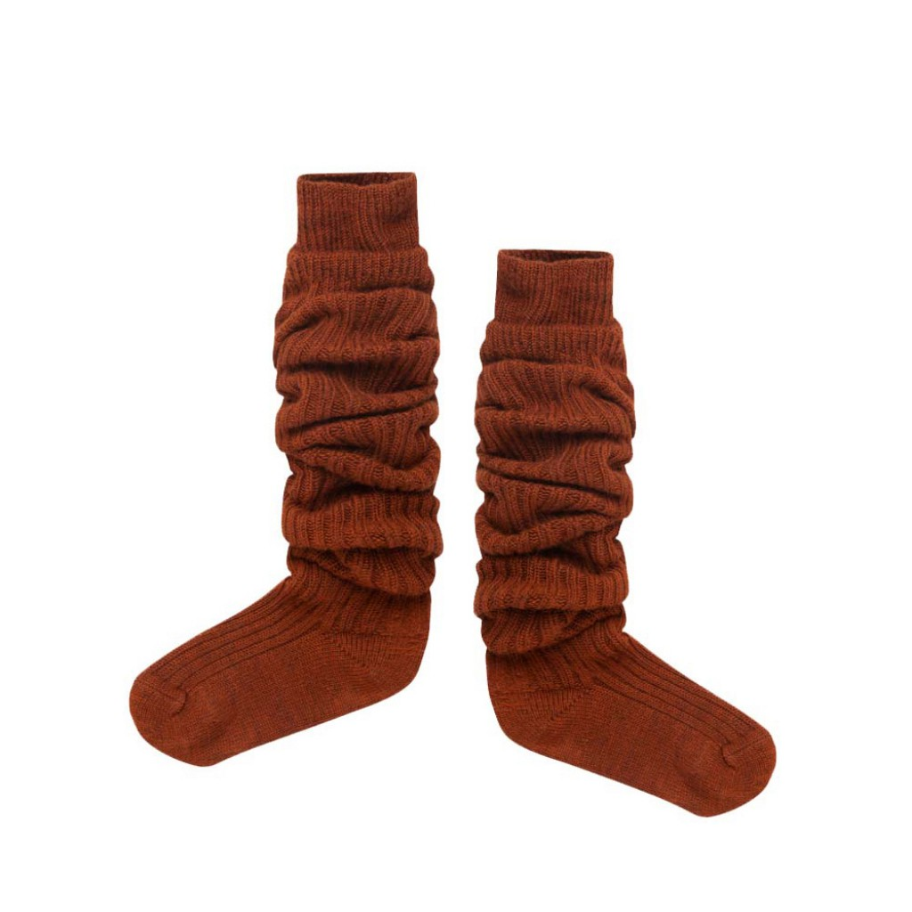 Repose AMS knee socks Wool brown overknee socks
