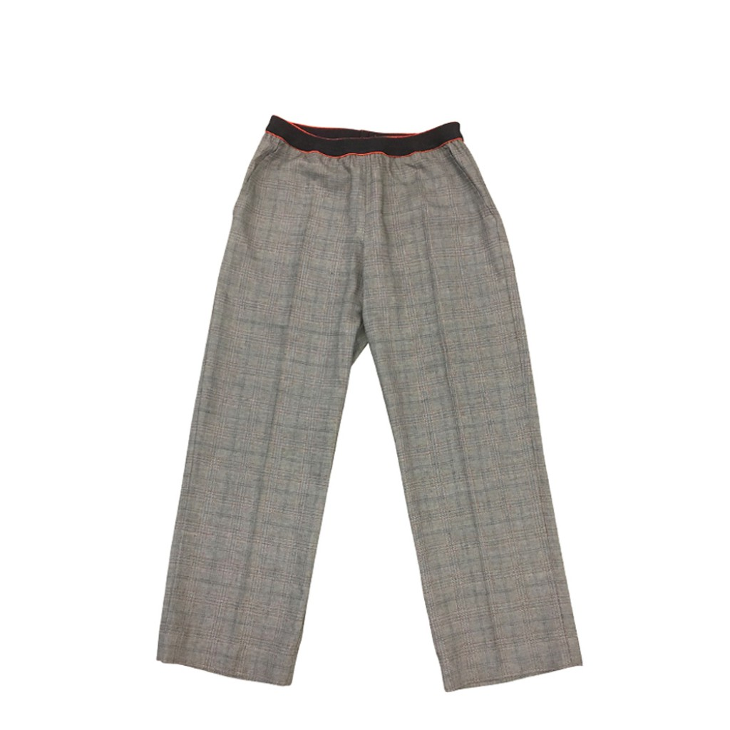 Maan - Grey checkered trousers