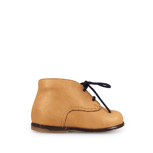 Kids shoe online Clotaire first walker Camel brown desert boot
