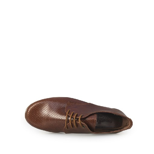 Eli lace-up shoe Brown derby with semi perforation