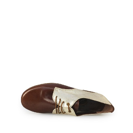 Eli lace-up shoe Derby in brown and gold