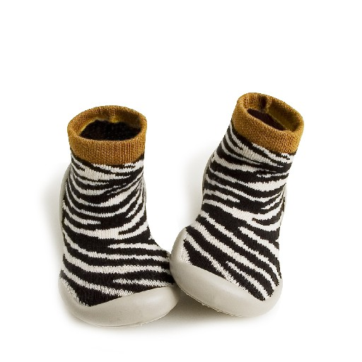 Kids shoe online Collegien slippers Sock slipper Zebra