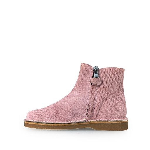 Eli short boots Short pink boot with golden stretcher