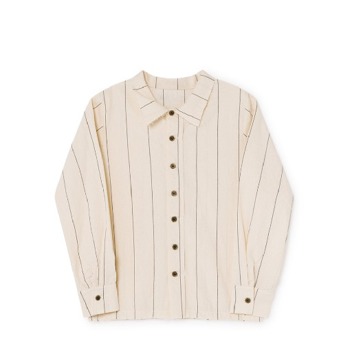 Kids shoe online Little Creative Factory Shirts Cream striped shirt