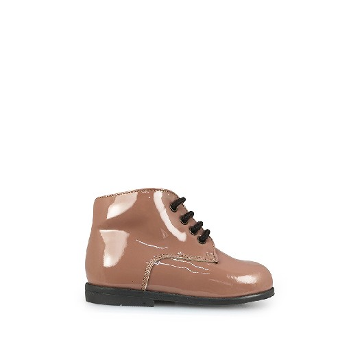 Kids shoe online Two Con Me by Pepe first walkers First stepper in patent nude pink
