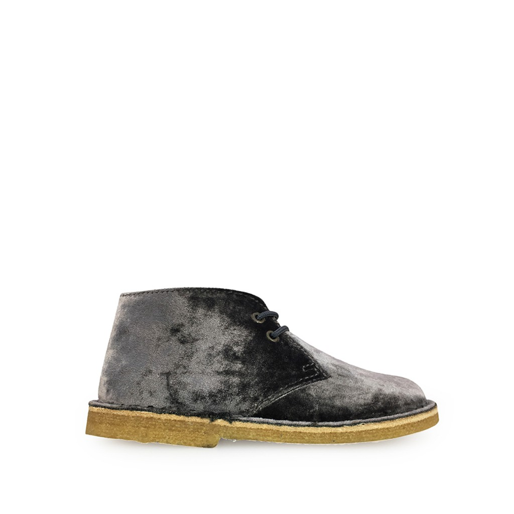 Two Con Me by Pepe - Desert boot in grey velvet