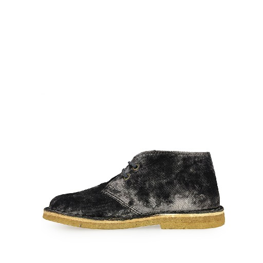 Two Con Me by Pepe lace-up shoe Desert boot in grey velvet
