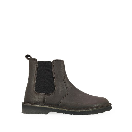 Kids shoe online Two Con Me by Pepe short boots Short boot in dark brown with stretcher