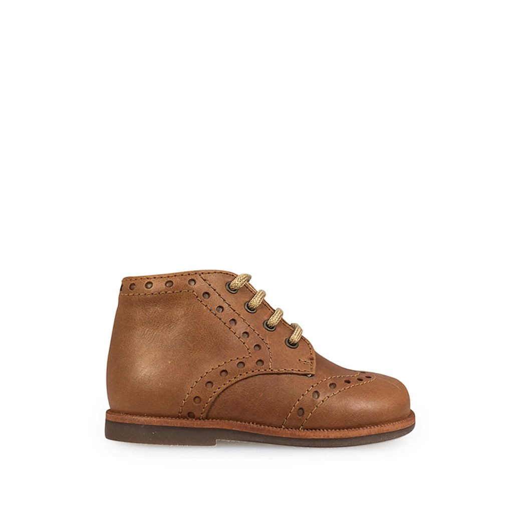Beberlis - First stepper in brown with brogues