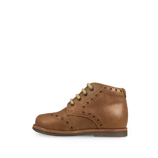 Beberlis first walker First stepper in brown with brogues