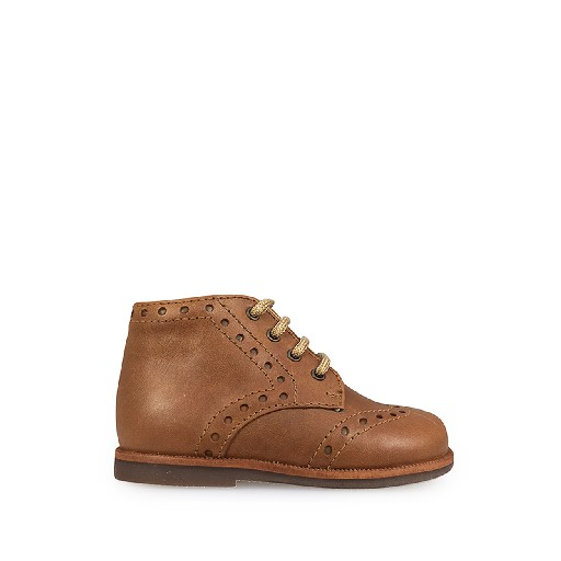 Kids shoe online Beberlis first walker First stepper in brown with brogues