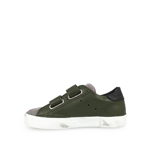 Philippe Model trainer Low velcrosneaker in grey and green