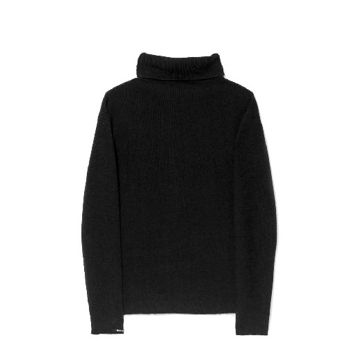 Kids shoe online Little Creative Factory jersey Fine-knit black turtleneck