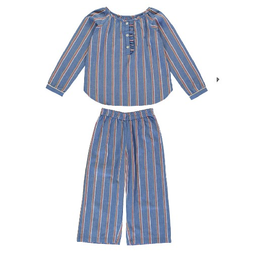 Kids shoe online Dorélit nightdresses Blue striped pyjamas