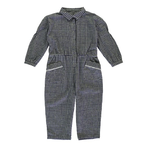 Kids shoe online Dorélit nightdresses Blue checkered onesie