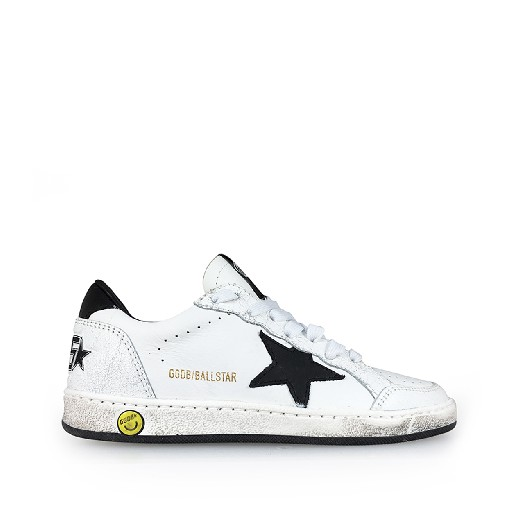 Kids shoe online Golden Goose deluxe brand trainer White sneaker with black details