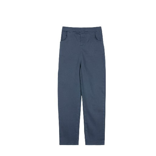 Kids shoe online Le Petit Germain trousers Indigo blue pants