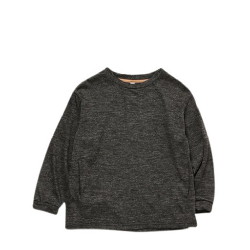 Kids shoe online MOUN TEN. jersey Wool blend pullover charcoal