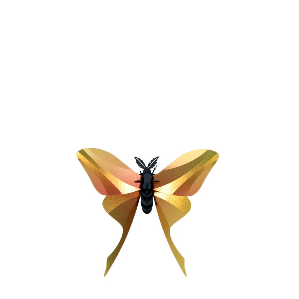 Assembli - 3D insect Chinese Moon Butterfly Yellow