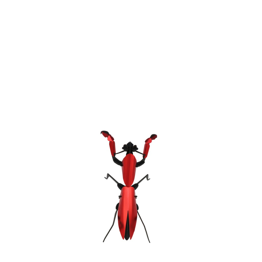 Assembli - 3D insect Praying Mantis Red