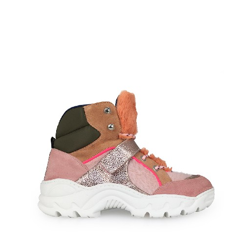 Kids shoe online Maison Mangostan trainer Pink chunky sneakers
