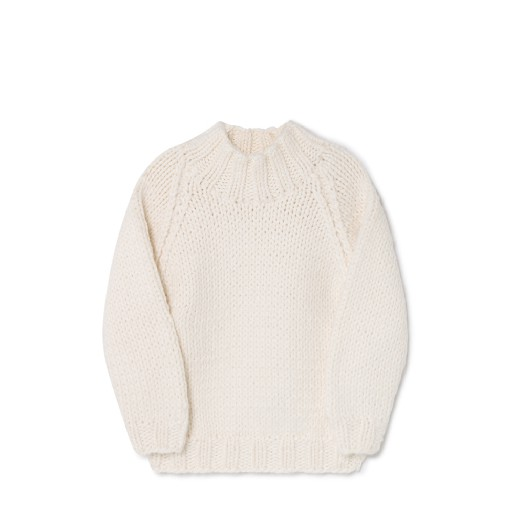 Kids shoe online Little Creative Factory jersey Cream knitted jumper