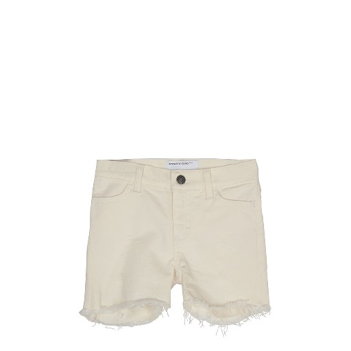 Kids shoe online Designers Remix jeans White denim shorts