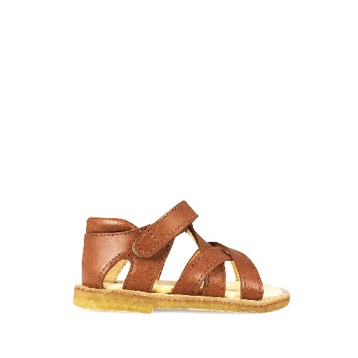 Kids shoe online Angulus first walkers Small tan sandal