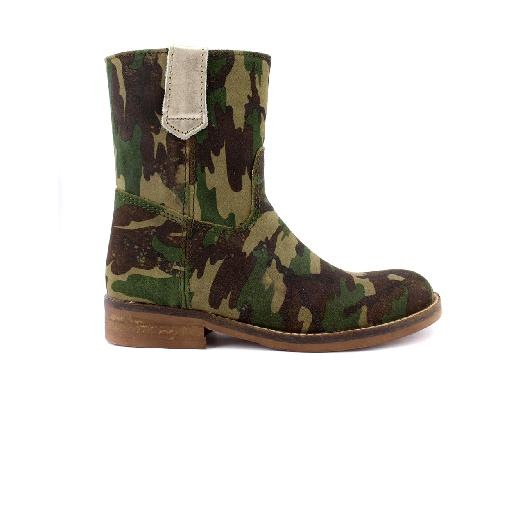 Kids shoe online HIP boot Half high boot in army print