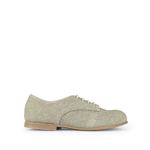 Kids shoe online Pèpè lace-up shoe Derby in golden glitter