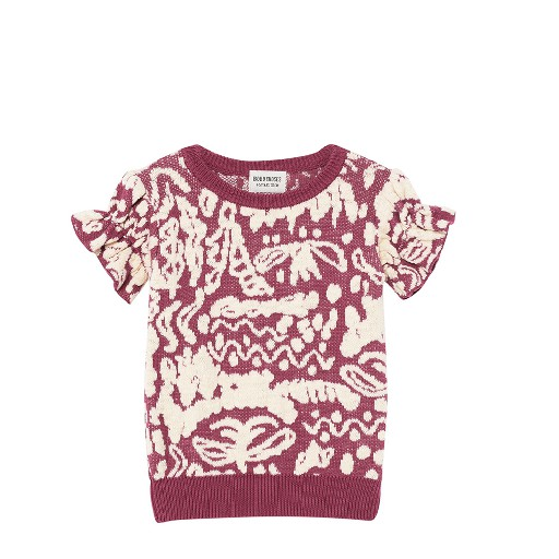 Kids shoe online Bobo Choses tops Knitted short sleeved top with retroprint