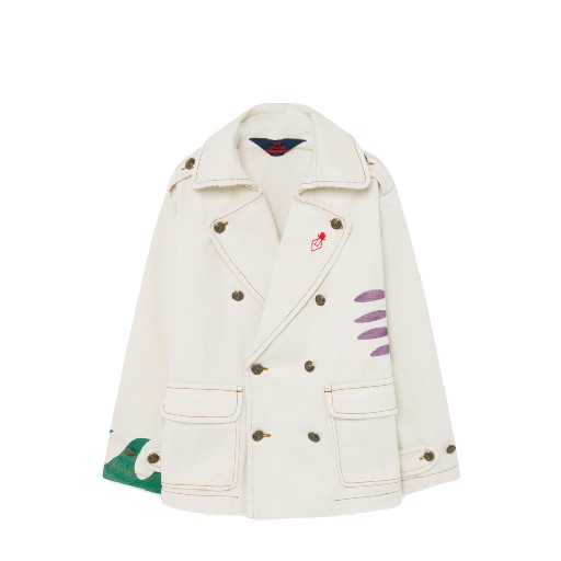 Kids shoe online The Animals Observatory jackets White jacket with sun print