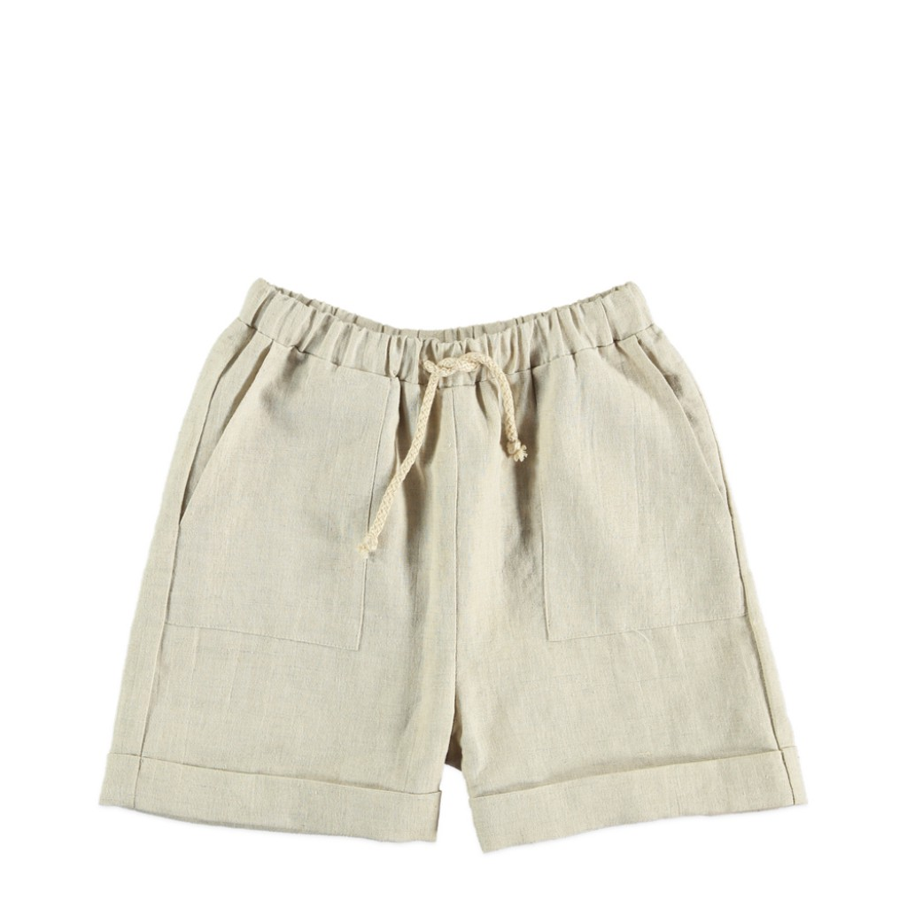 The new society - Beige linen shorts