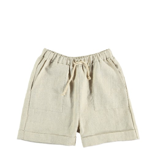Kids shoe online The new society shorts Beige linen shorts