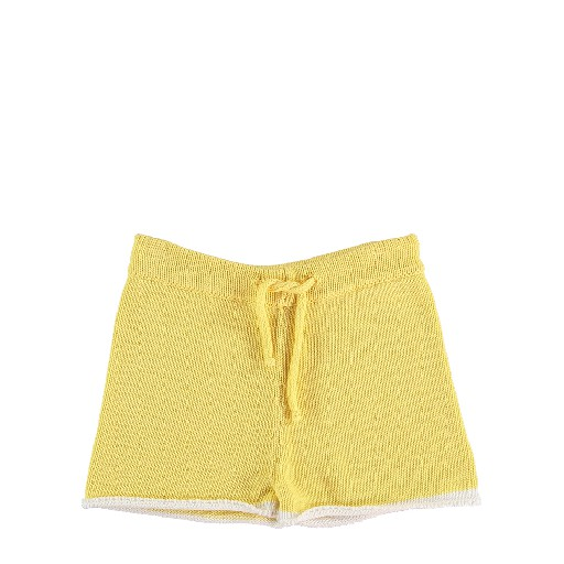 Kids shoe online The new society shorts Yellow knitted shorts