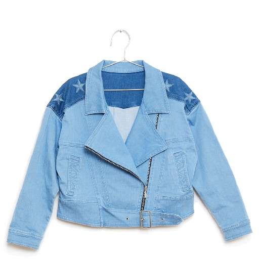 Kids shoe online Fish & Kids jeans Denim stars bikerjacket