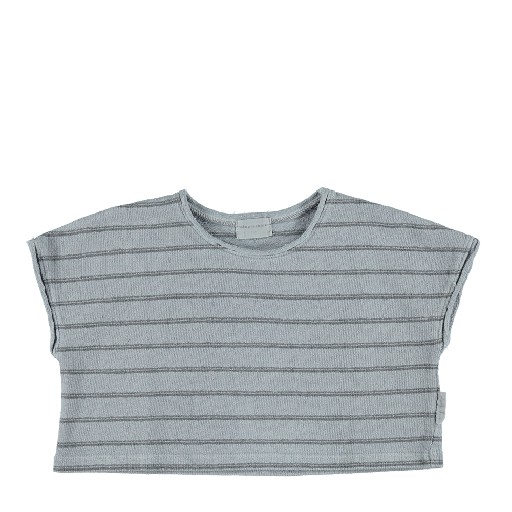 Kids shoe online Piupiuchick tops Short top grey stripes